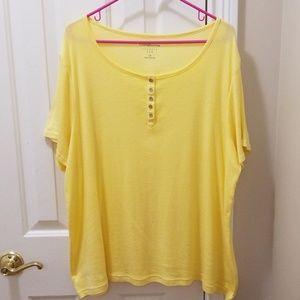 Croft & Barrow yellow shirt sz 2X